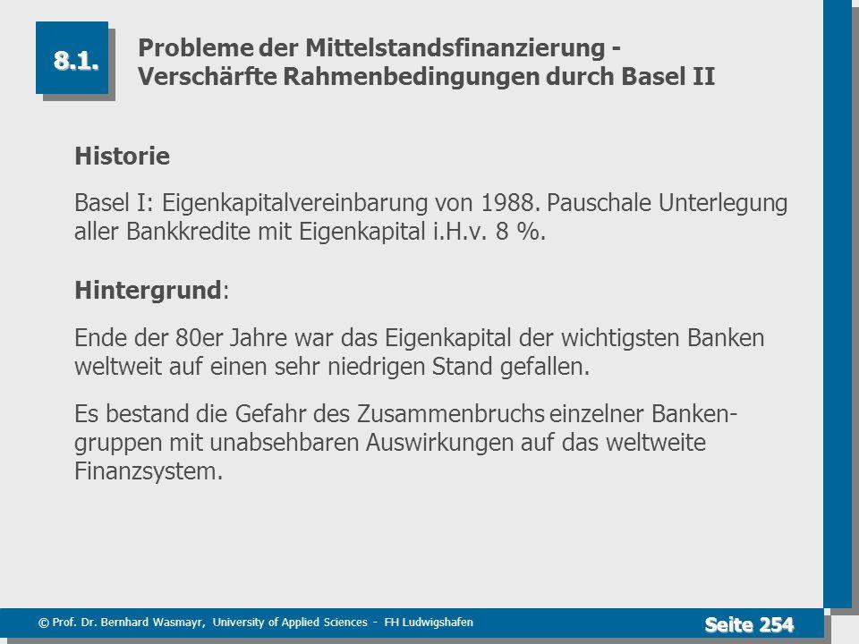 Probleme der Mittelstandsfinanzierung - Verschärfte Rahmenbedingungen durch Basel II