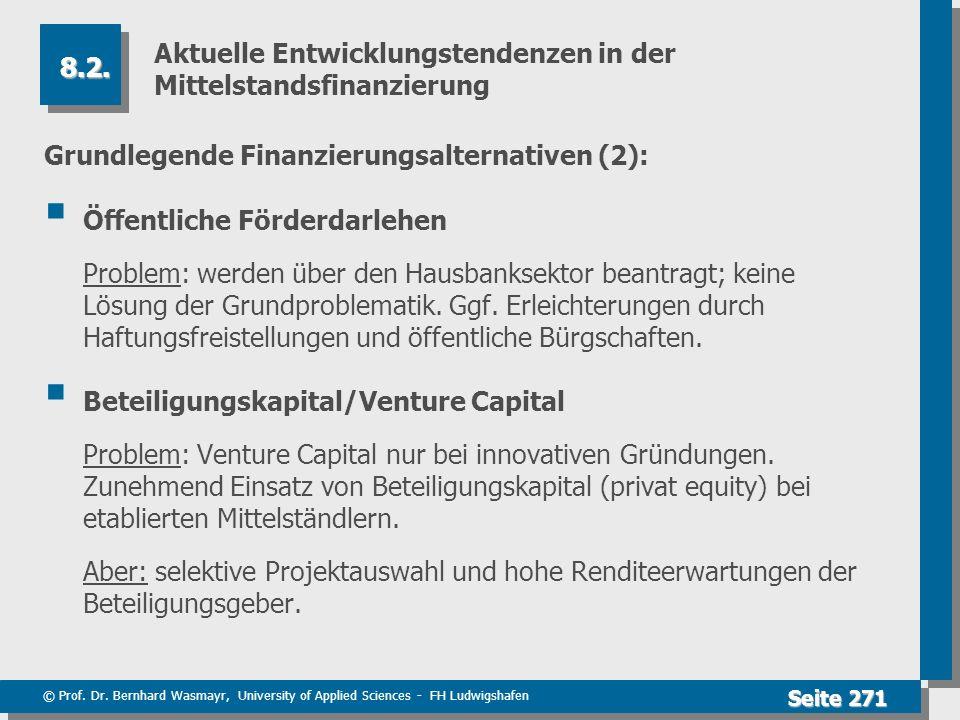 Aktuelle Entwicklungstendenzen in der Mittelstandsfinanzierung