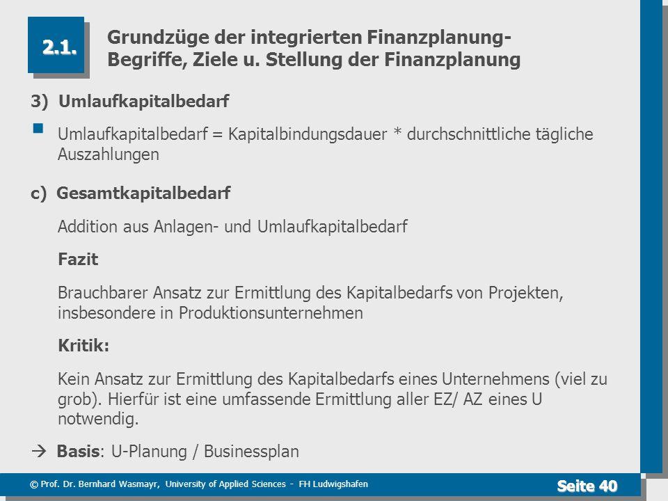 Grundzüge der integrierten Finanzplanung- Begriffe, Ziele u