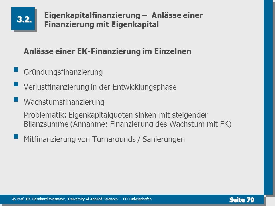 Eigenkapitalfinanzierung – Anlässe einer Finanzierung mit Eigenkapital