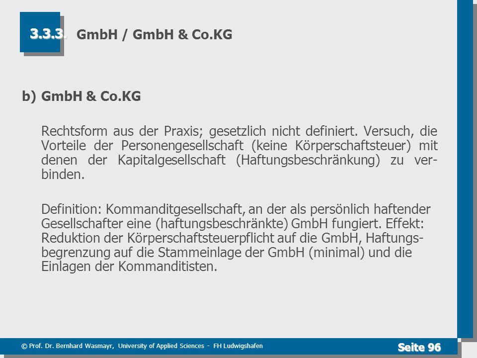 GmbH / GmbH & Co.KG 3.3.3. b) GmbH & Co.KG