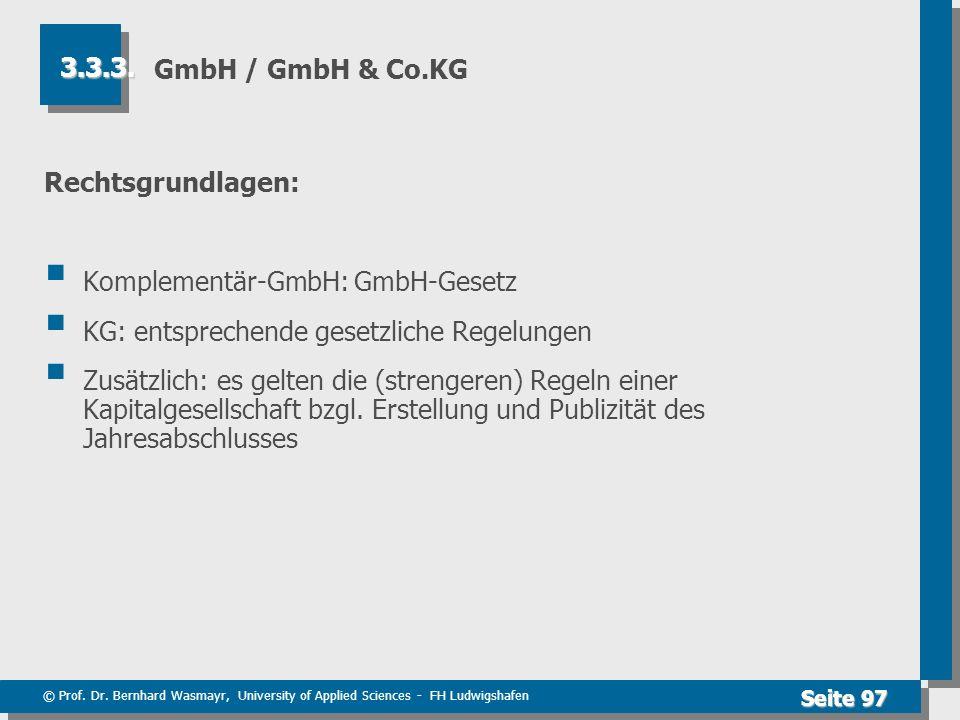 Komplementär-GmbH: GmbH-Gesetz