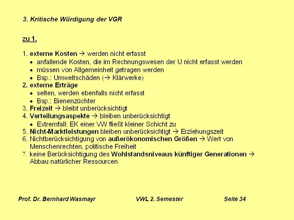 Prof. Dr. Bernhard Wasmayr VWL 2. Semester Seite 34