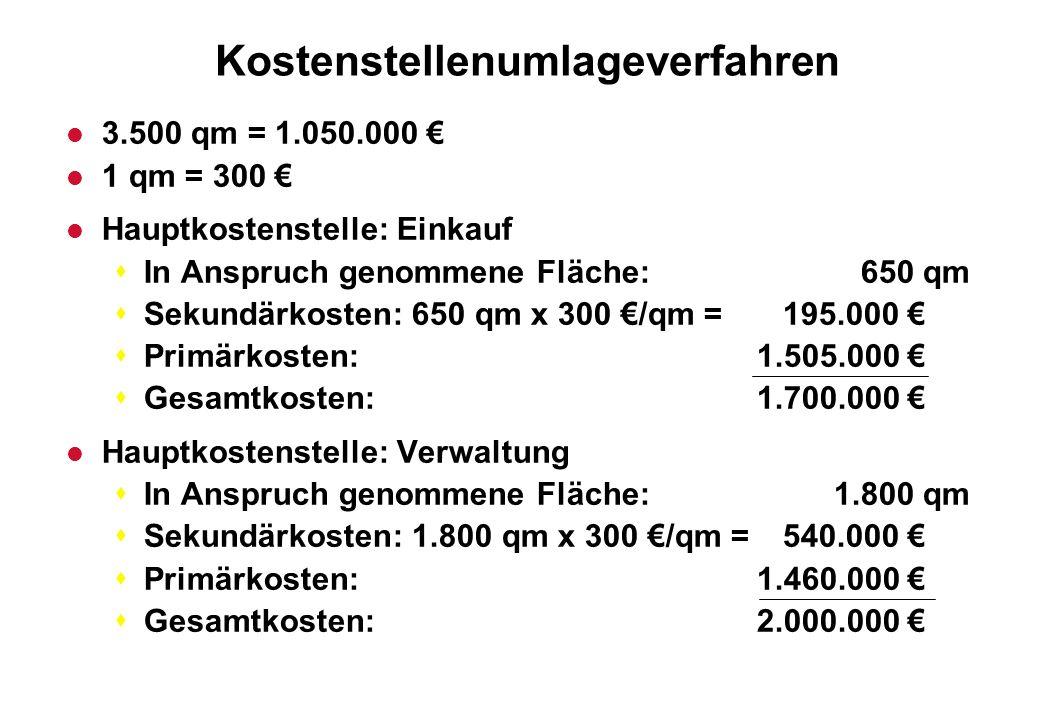 Kostenstellenumlageverfahren