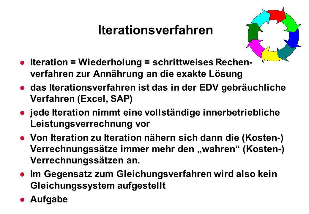 Iterationsverfahren Iteration = Wiederholung = schrittweises Rechen-verfahren zur Annährung an die exakte Lösung.