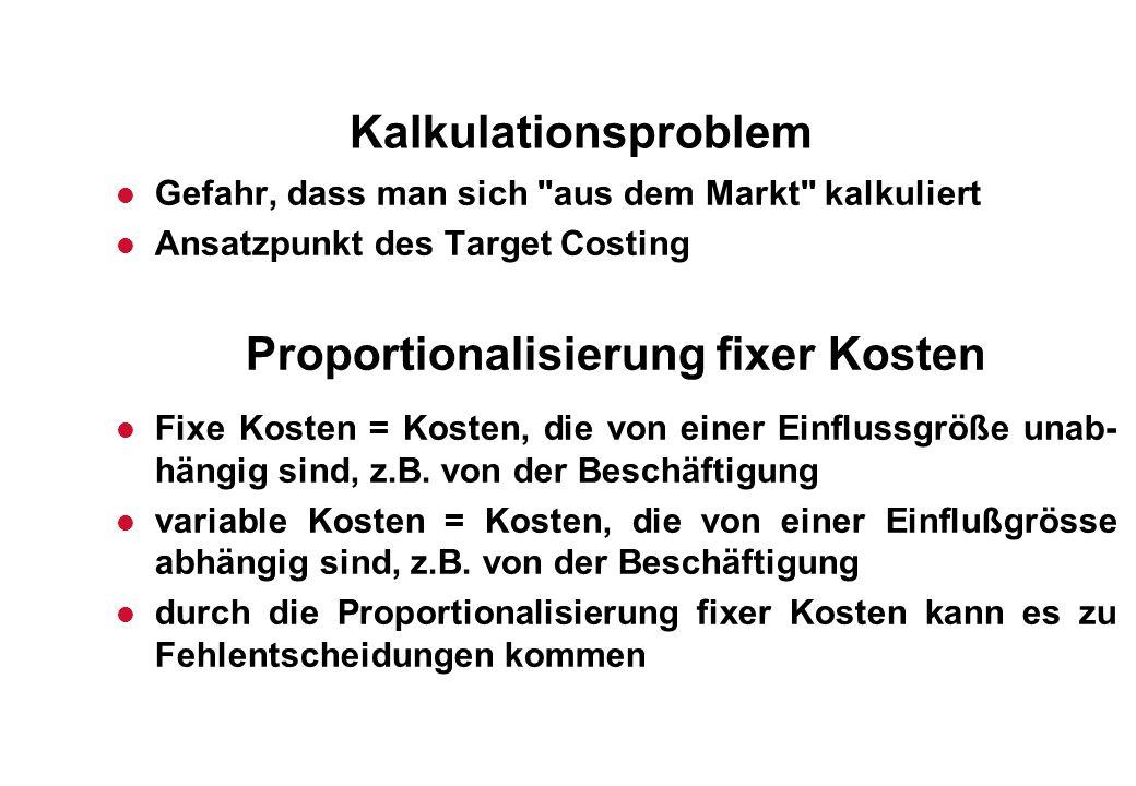 Proportionalisierung fixer Kosten