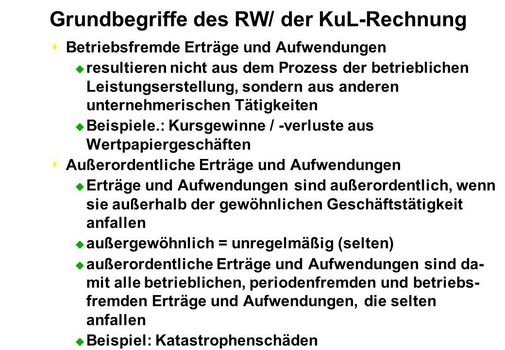 Grundbegriffe des RW/ der KuL-Rechnung