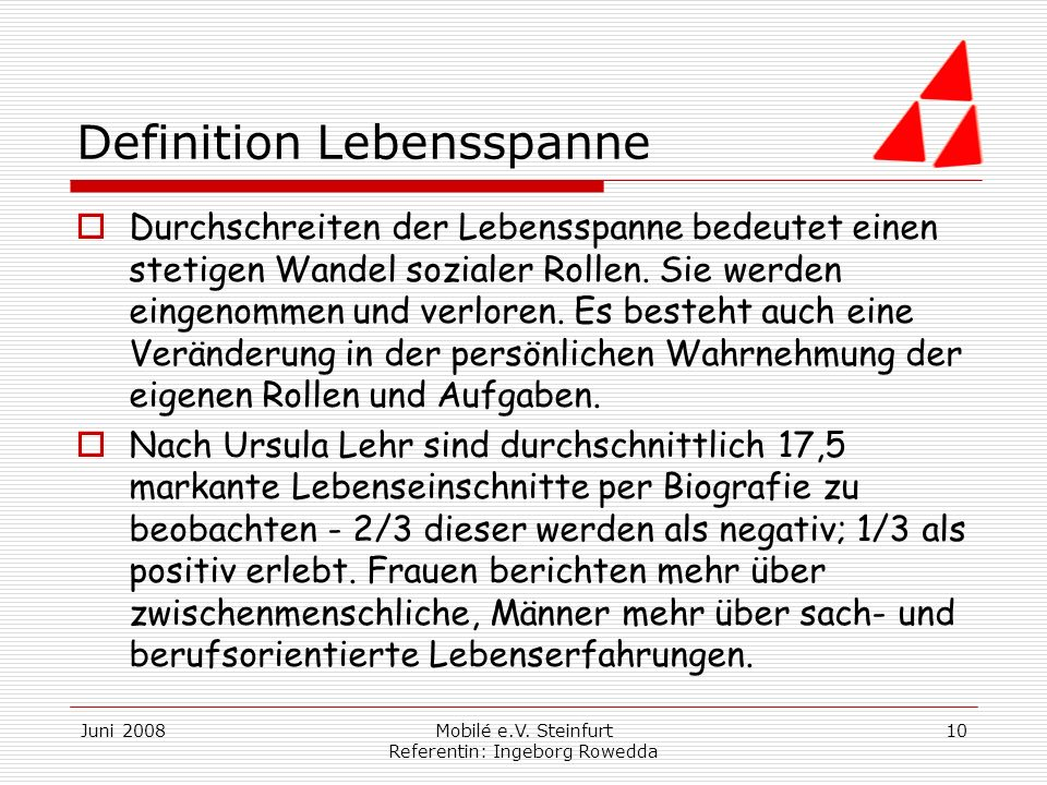 Definition Lebensspanne