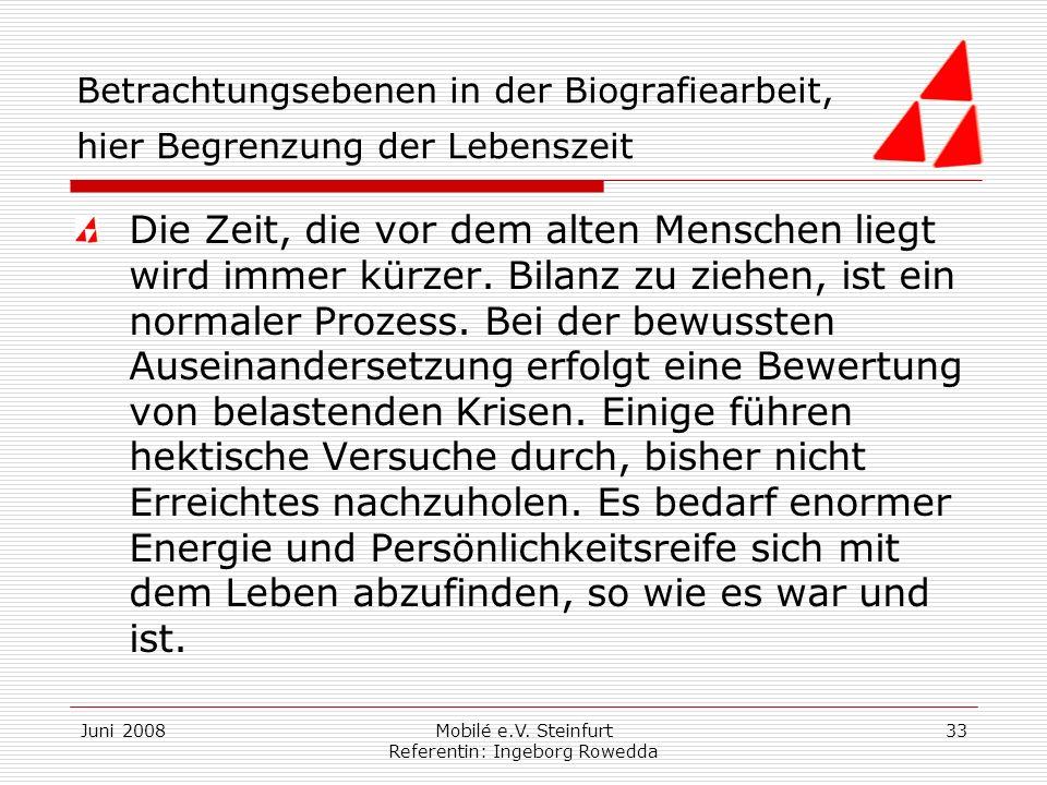 Mobilé e.V. Steinfurt Referentin: Ingeborg Rowedda