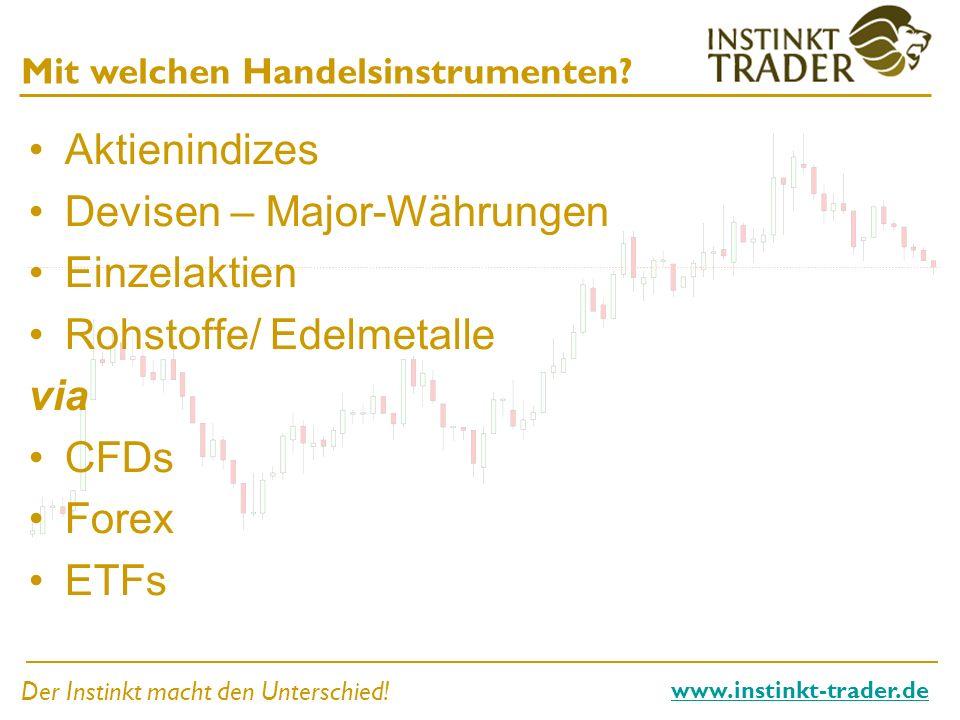 Devisen – Major-Währungen Einzelaktien Rohstoffe/ Edelmetalle via CFDs