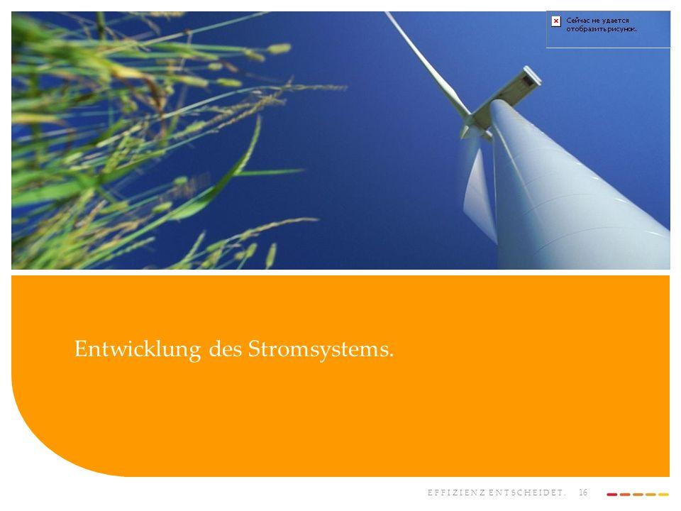 Entwicklung des Stromsystems.