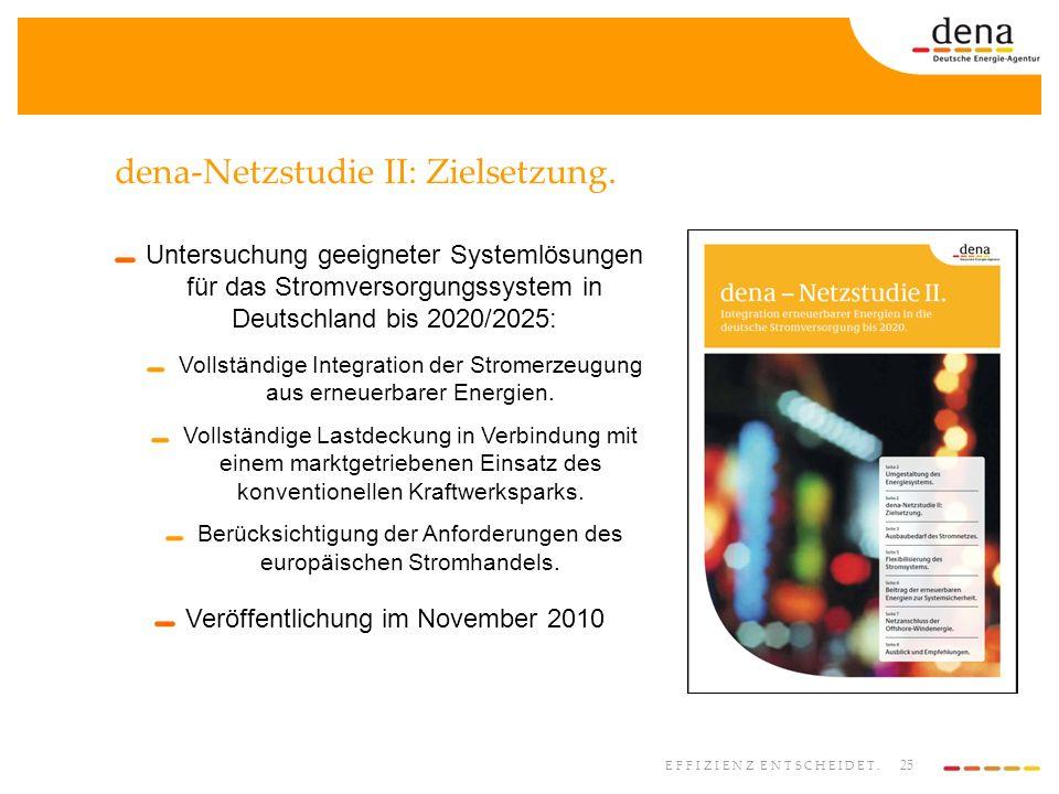dena-Netzstudie II: Zielsetzung.