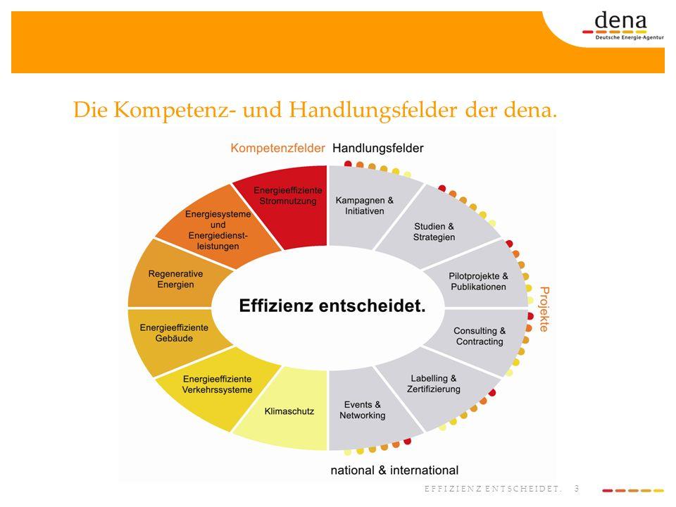 Die Kompetenz- und Handlungsfelder der dena.