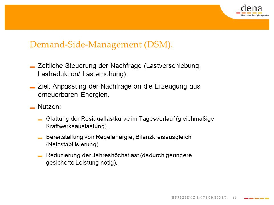 Demand-Side-Management (DSM).