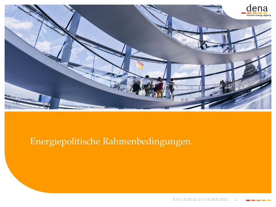 Energiepolitische Rahmenbedingungen.