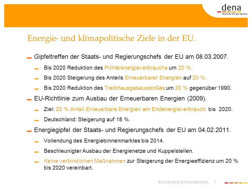 Energie- und klimapolitische Ziele in der EU.
