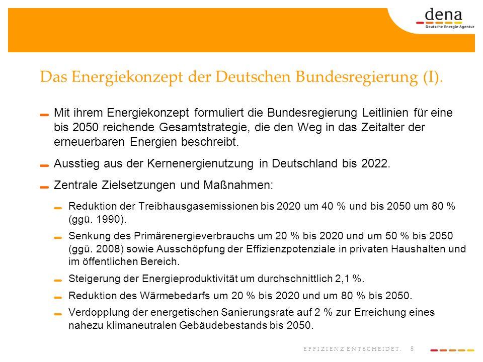 Das Energiekonzept der Deutschen Bundesregierung (I).