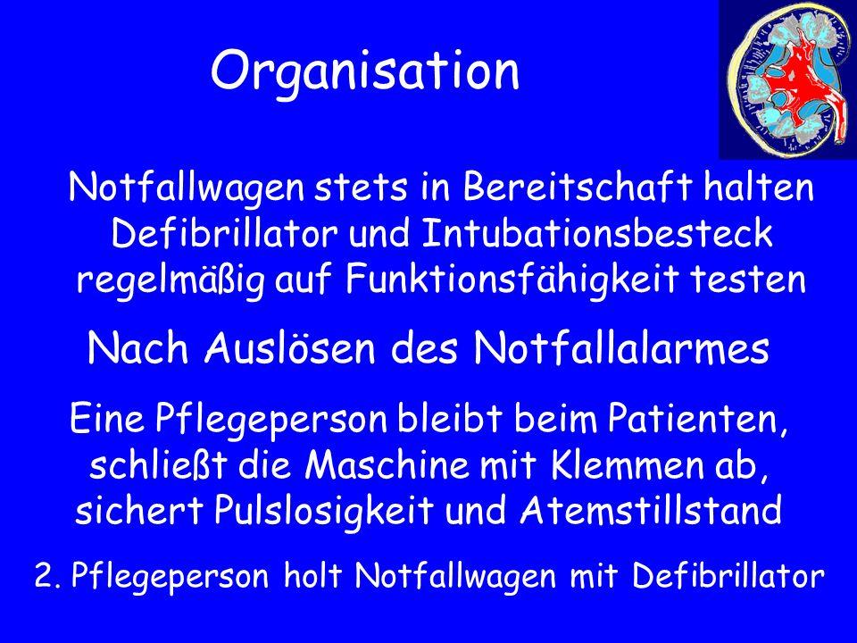Organisation Nach Auslösen des Notfallalarmes