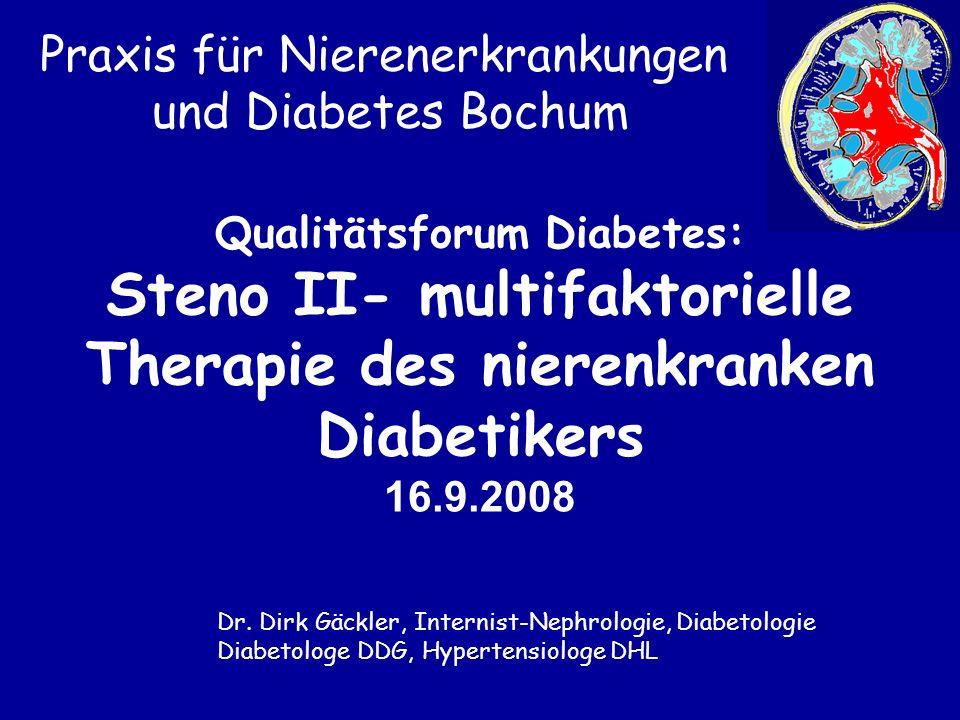 Steno II- multifaktorielle Therapie des nierenkranken Diabetikers