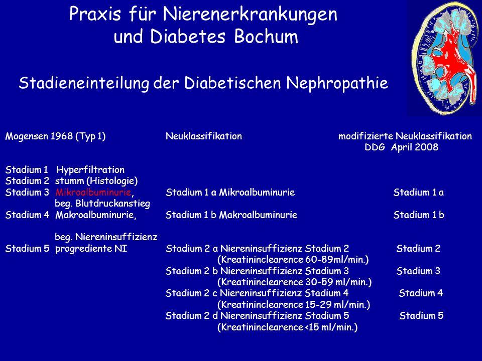 Stadieneinteilung der Diabetischen Nephropathie
