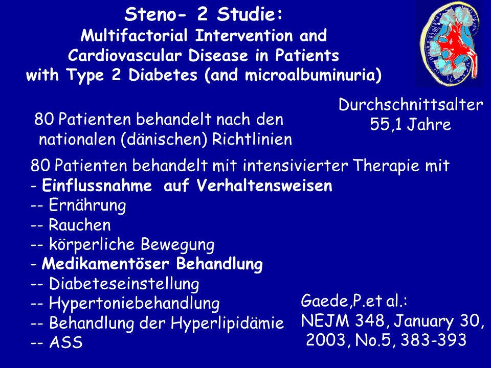 Steno- 2 Studie: Multifactorial Intervention and
