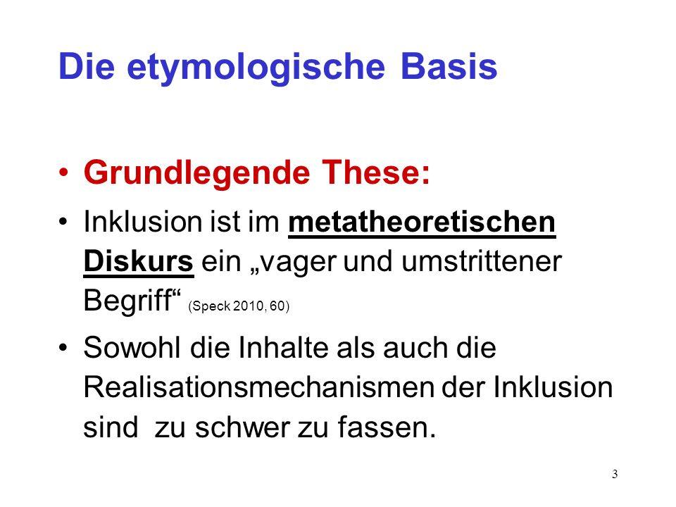 Die etymologische Basis