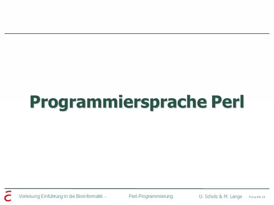 Programmiersprache Perl
