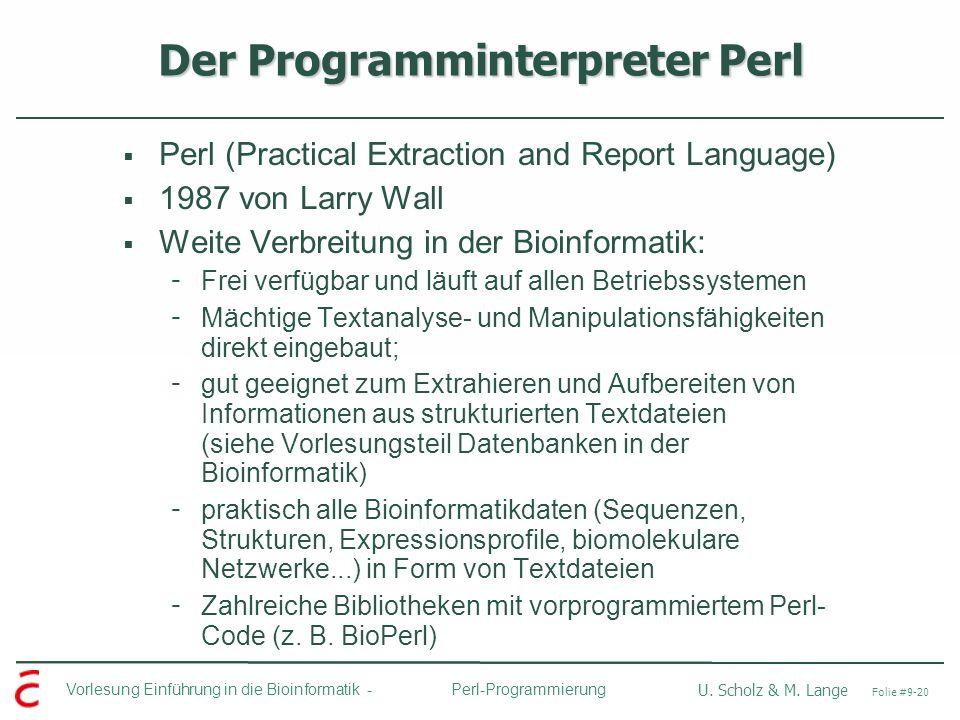 Der Programminterpreter Perl