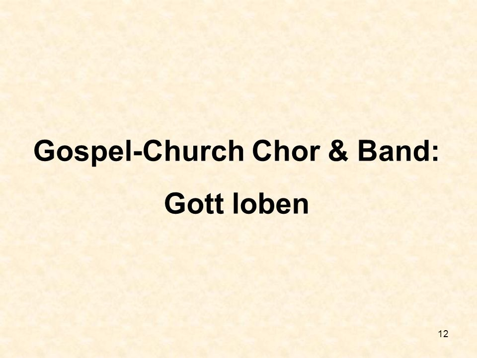 Gospel-Church Chor & Band: