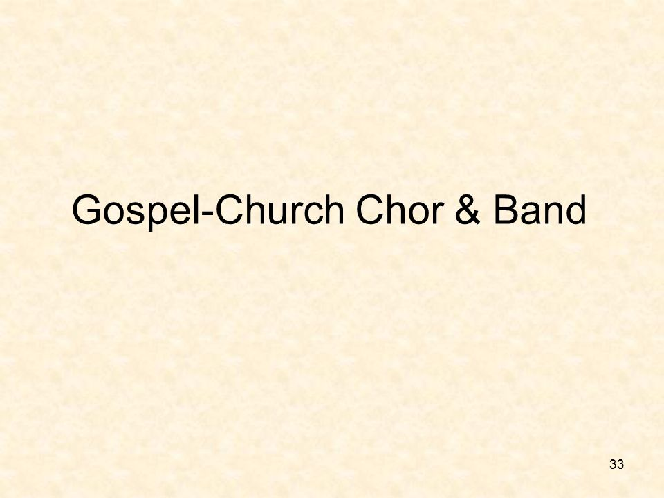 Gospel-Church Chor & Band