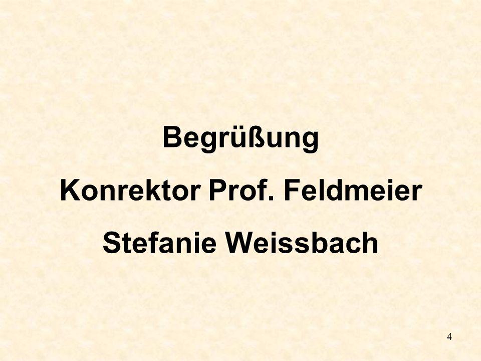 Konrektor Prof. Feldmeier