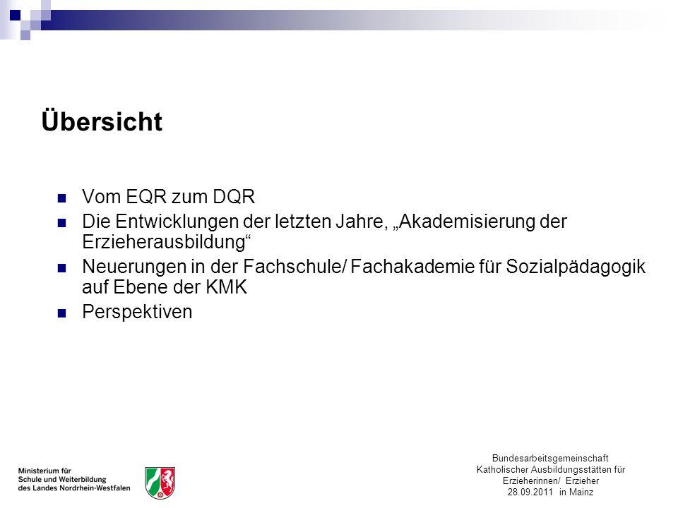 Übersicht Vom EQR zum DQR