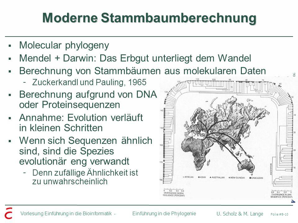 Moderne Stammbaumberechnung