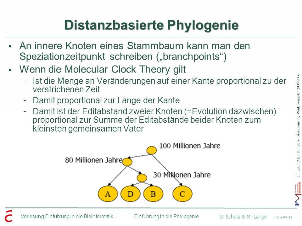 Distanzbasierte Phylogenie