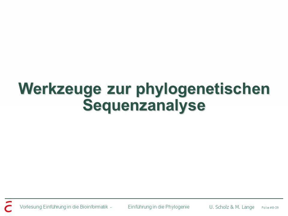 Werkzeuge zur phylogenetischen Sequenzanalyse