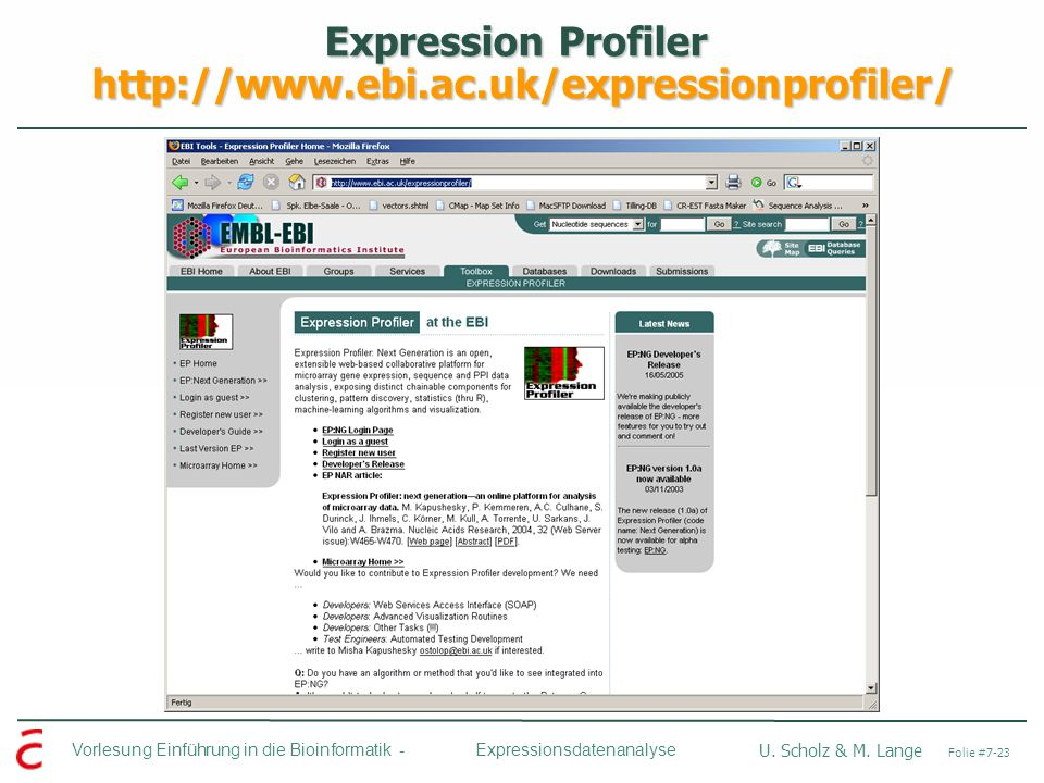 Expression Profiler http://www.ebi.ac.uk/expressionprofiler/