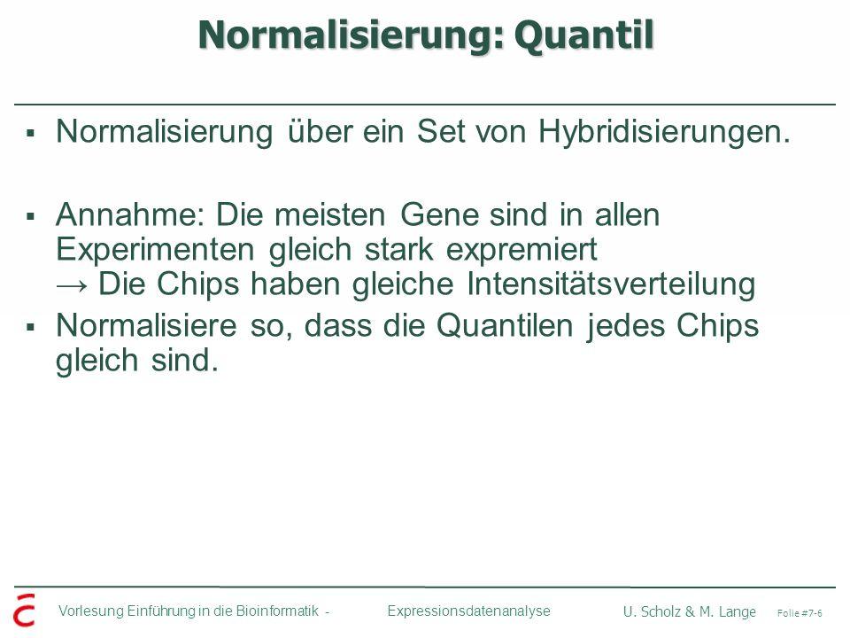 Normalisierung: Quantil
