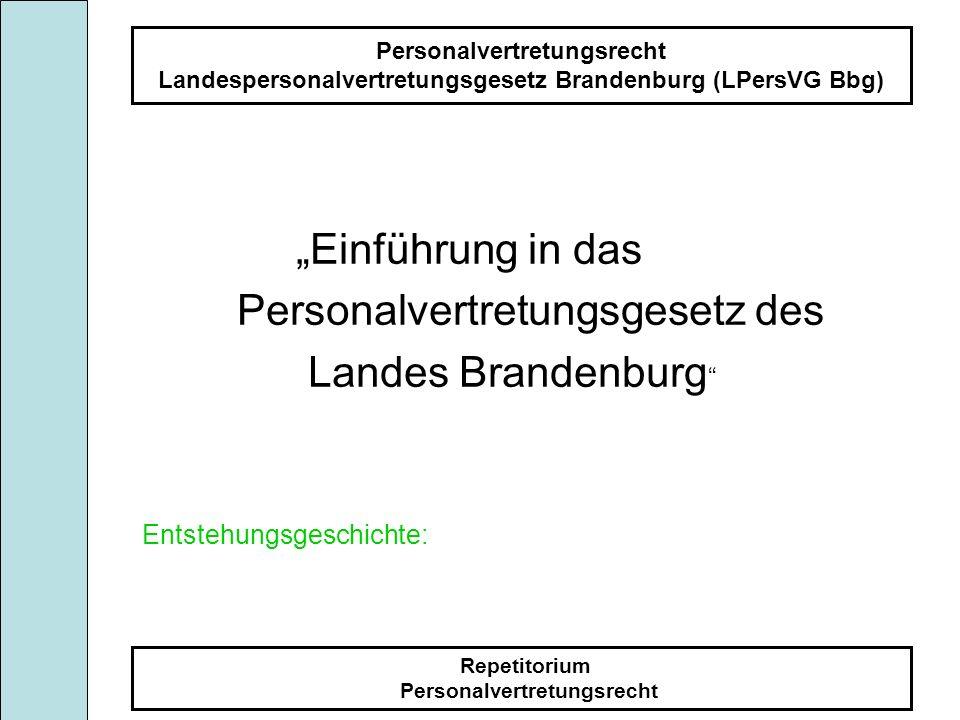 Personalvertretungsgesetz des Landes Brandenburg