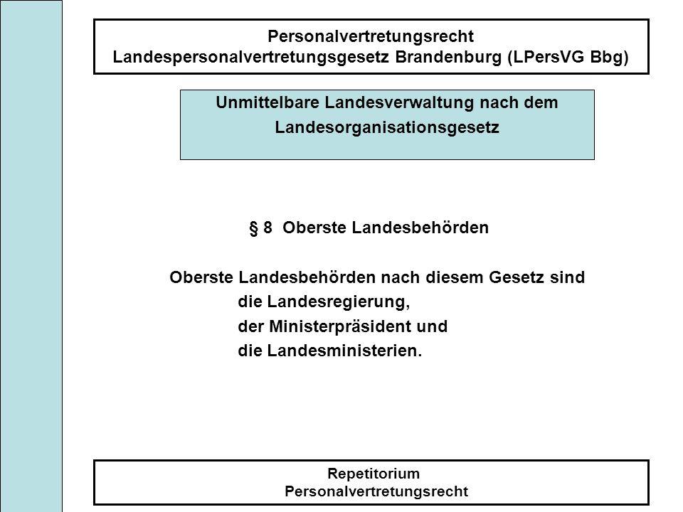 Unmittelbare Landesverwaltung nach dem Landesorganisationsgesetz