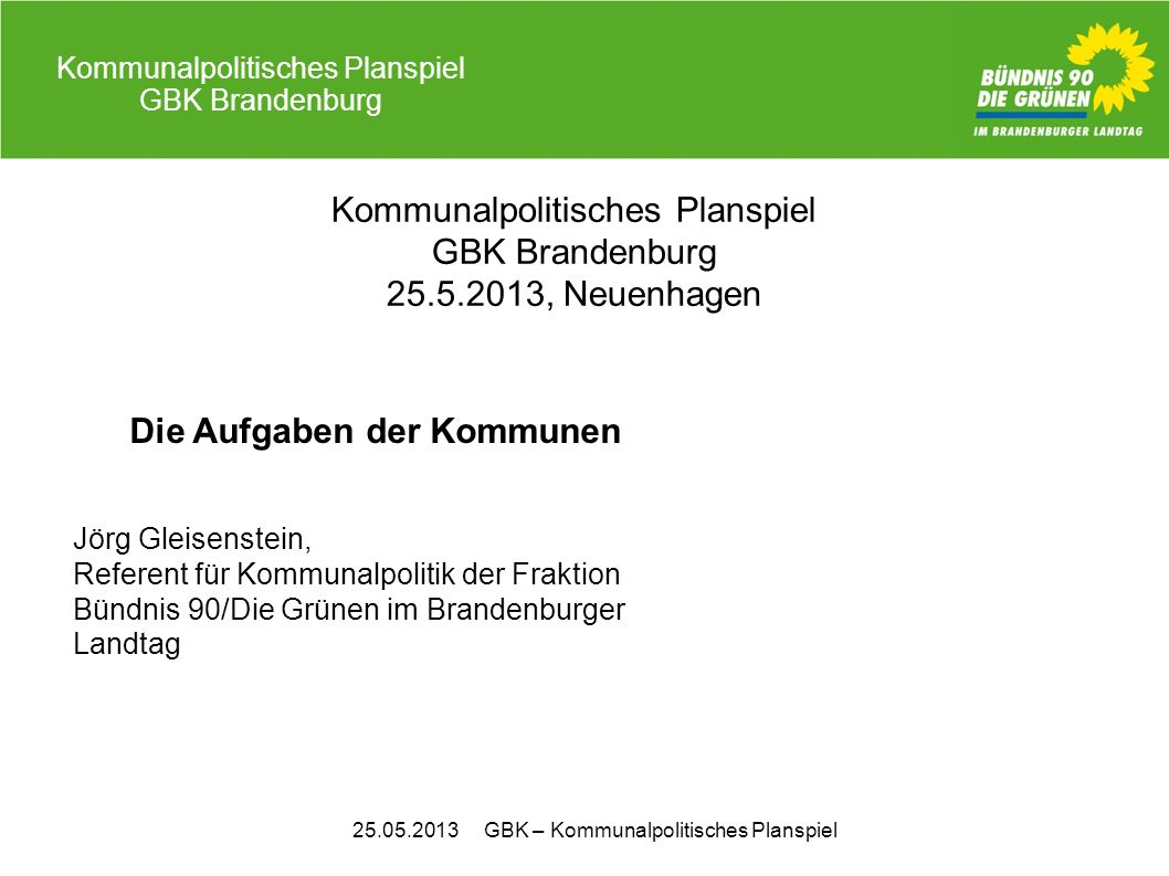 Kommunalpolitisches Planspiel GBK Brandenburg 25.5.2013, Neuenhagen