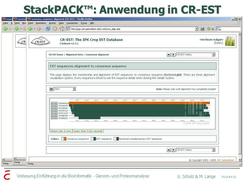 StackPACK™: Anwendung in CR-EST