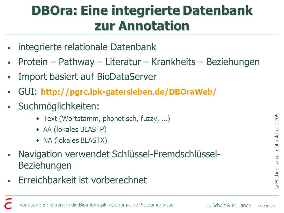 DBOra: Eine integrierte Datenbank zur Annotation