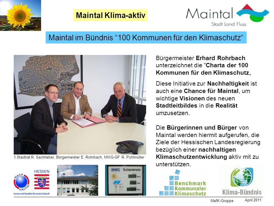 Maintal im Bündnis 100 Kommunen für den Klimaschutz
