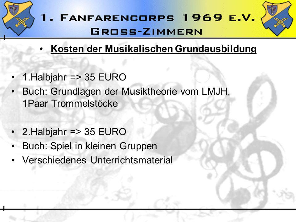 Kosten der Musikalischen Grundausbildung