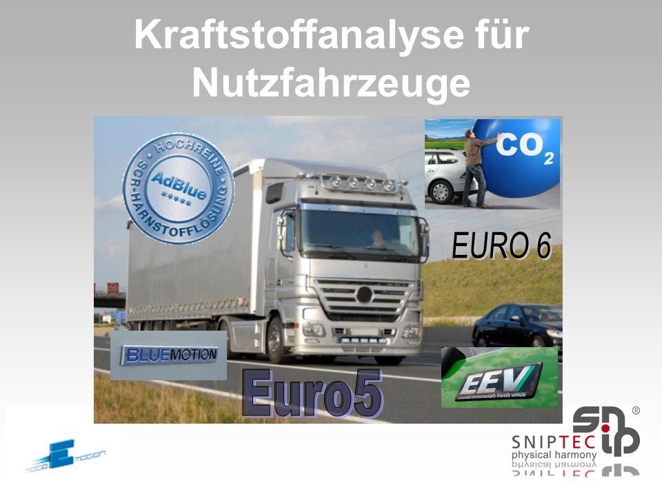 Kraftstoffanalyse für Nutzfahrzeuge