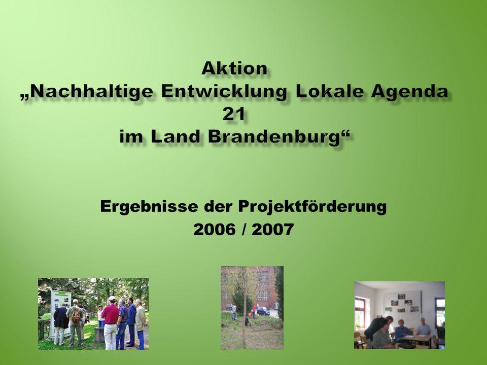 """Aktion """"Nachhaltige Entwicklung Lokale Agenda 21 im Land Brandenburg"""