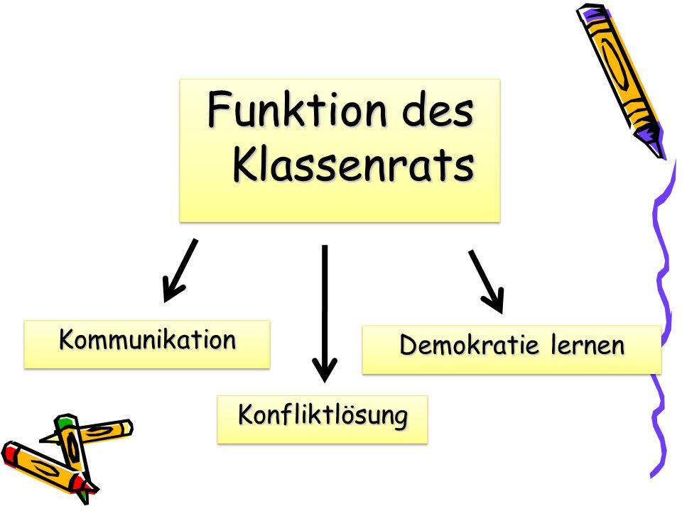 Funktion des Klassenrats
