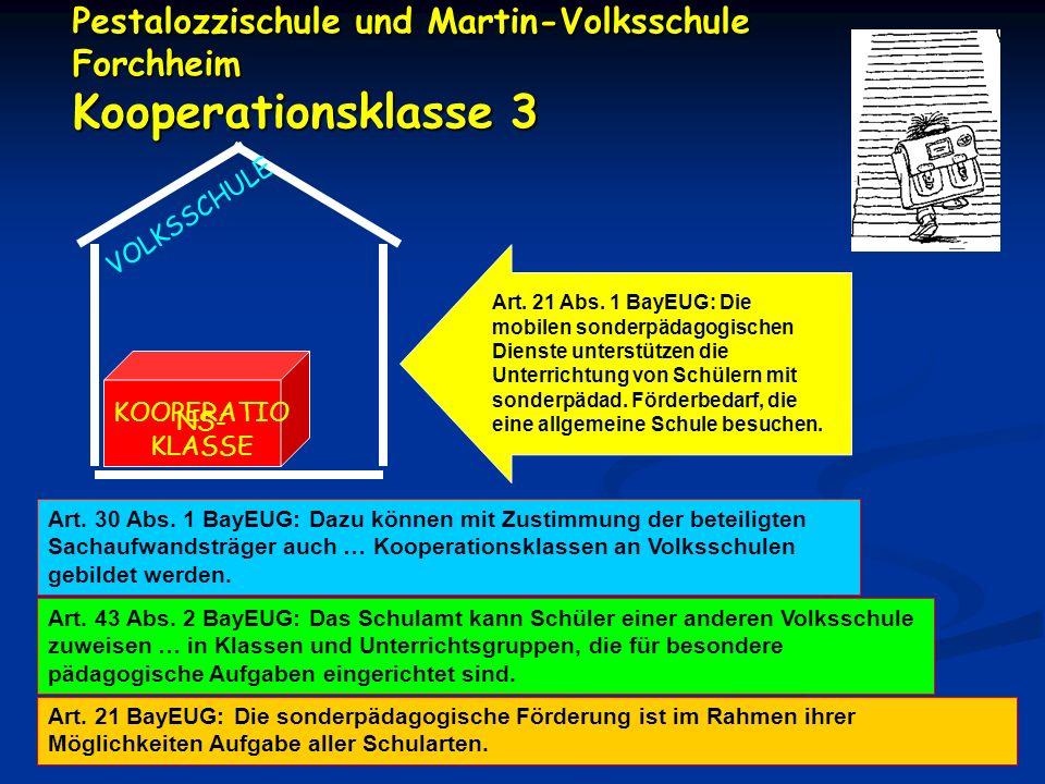 Pestalozzischule und Martin-Volksschule Forchheim Kooperationsklasse 3