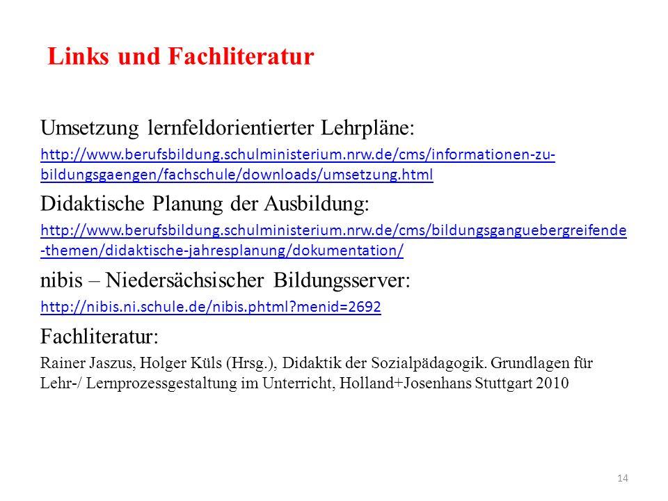 Links und Fachliteratur