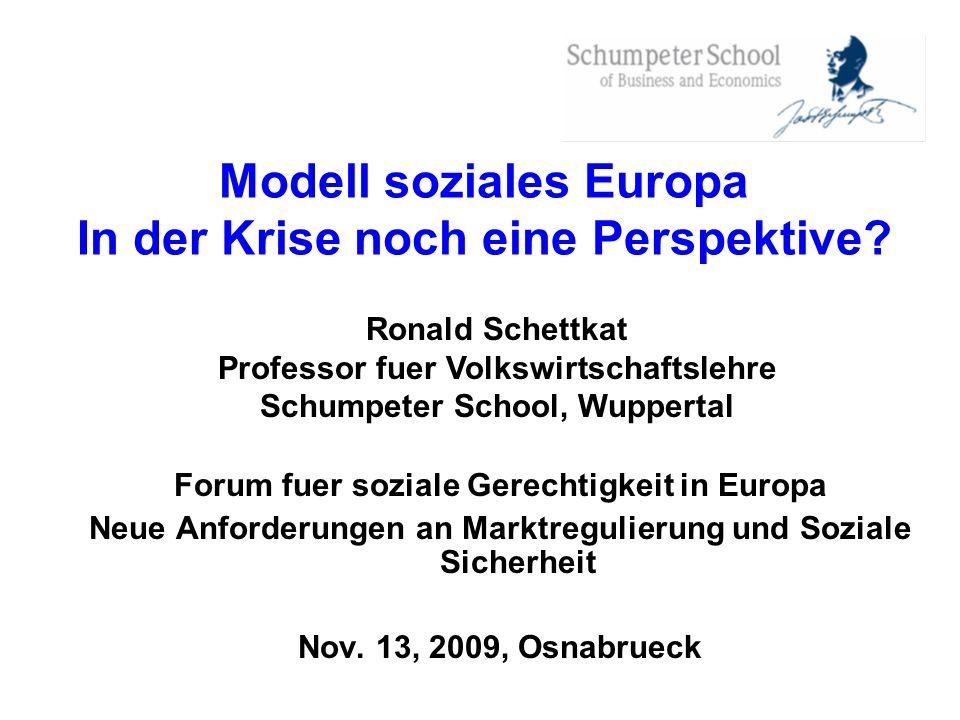 Modell soziales Europa In der Krise noch eine Perspektive